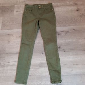old Navy Rockstar olive green jeans 4